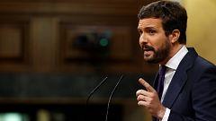 """Casado afea a Sánchez """"el sorpasso de Errejón"""" y este contesta: """"Se le está poniendo cara de Rivera"""""""