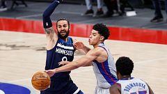 Ricky Rubio guía a los Timberwolves en la victoria ante Pistons