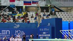 Natación Saltos - Campeonato de Europa. Preliminares 1 m masculino