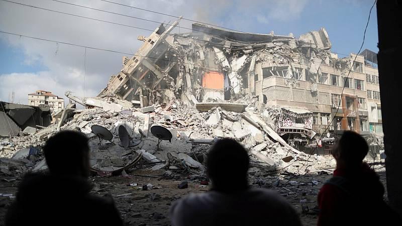 Violencia en las ciudades mixtas israelíes mientras continúan bombardeos en Gaza