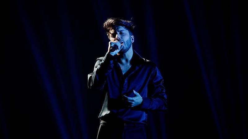 Eurovisión 2021 - Primer pase de Blas Cantó en su primer ensayo