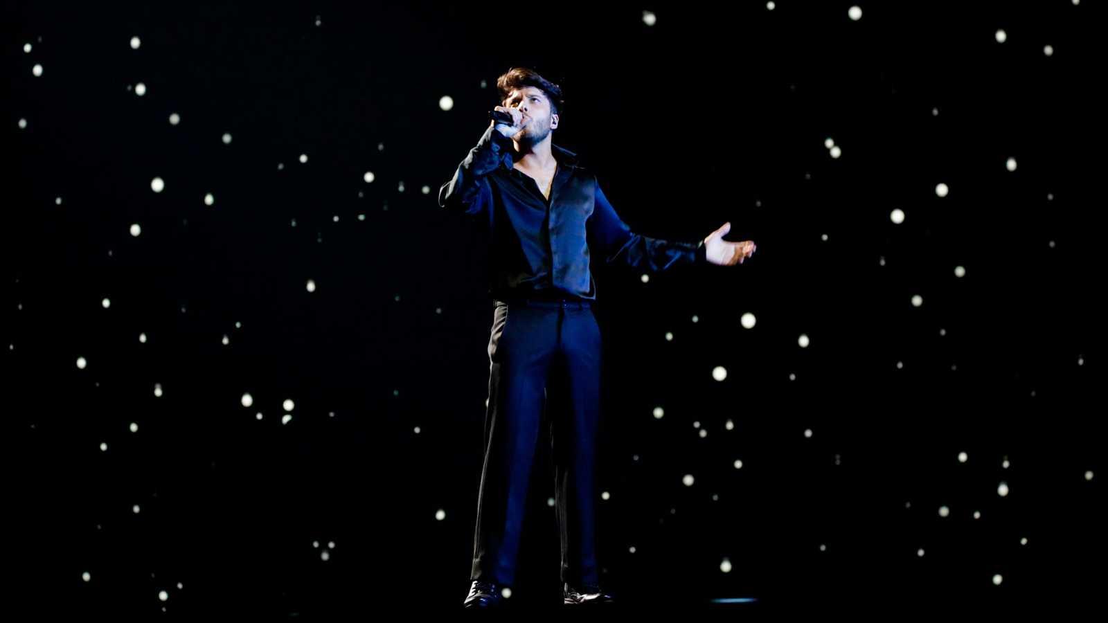 Eurovisión 2021 - Segundo pase de Blas Cantó en su primer ensayo
