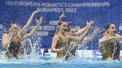 Natación artística - Campeonato de Europa. Final Combo libre