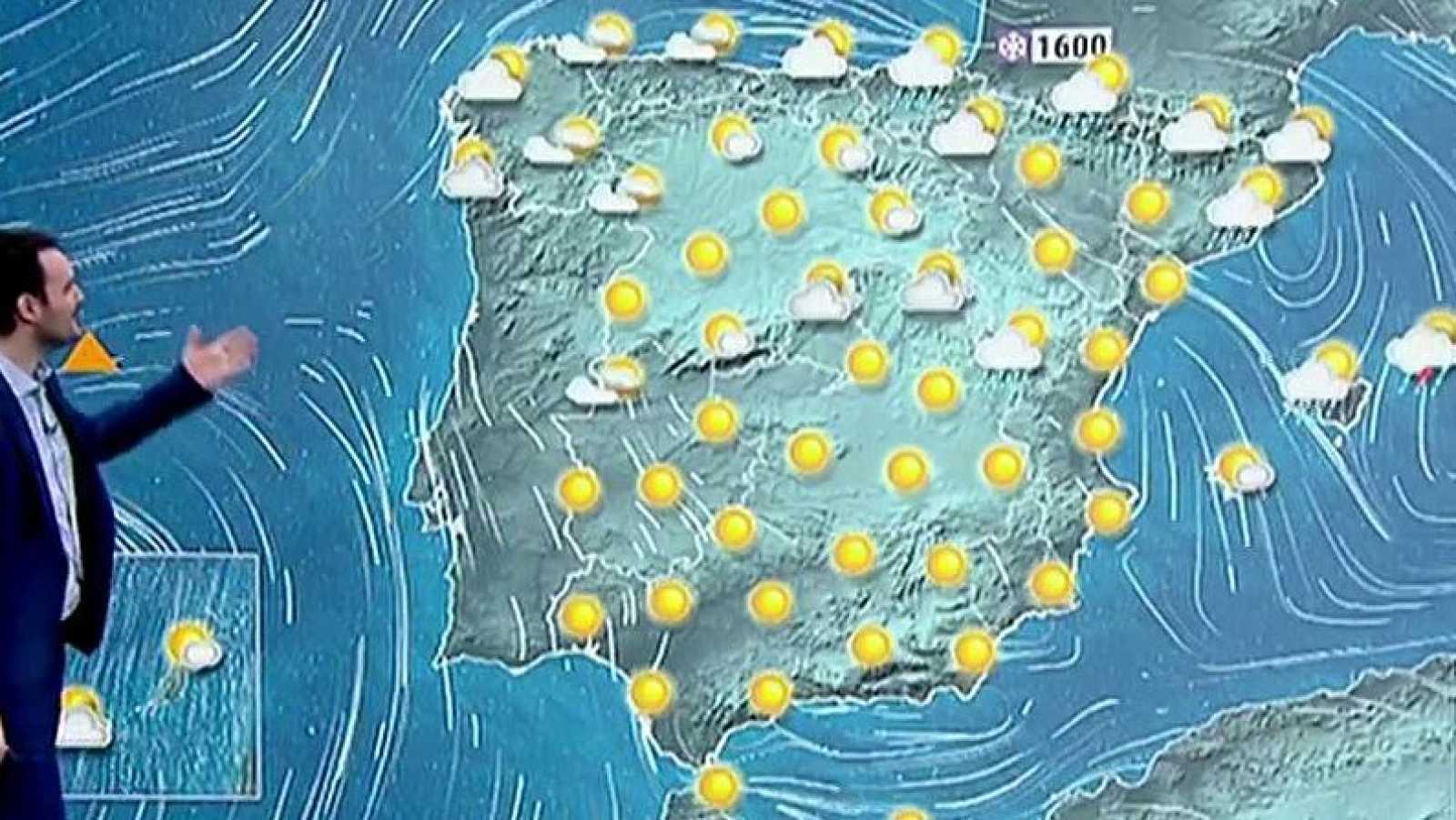 Las temperaturas suben en el interior del oeste peninsular y bajan en el noreste y Baleares