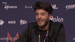 Eurovisión 2021 - Rueda de prensa de Blas Cantó tras el primer ensayo