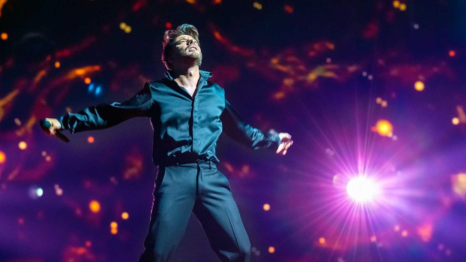 Eurovisión 2021 - Tercer pase de Blas Cantó en su primer ensayo