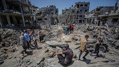 Israel lanza la mayor ofensiva desde el inicio de los ataques y bombardea Gaza con artillería y aviación