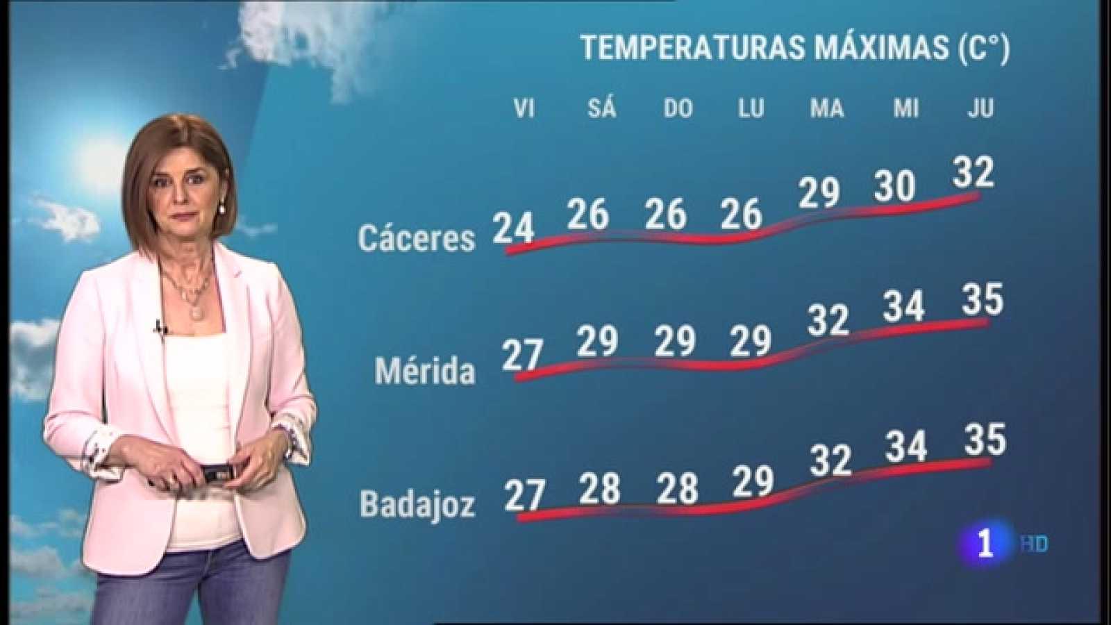 El tiempo en Extremadura - 14/05/2021