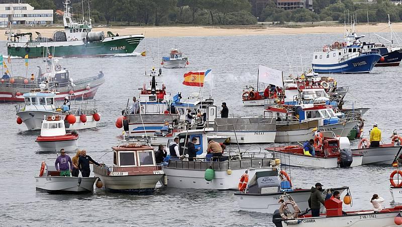 Protesta da pesca artesanal contra o control electrónico