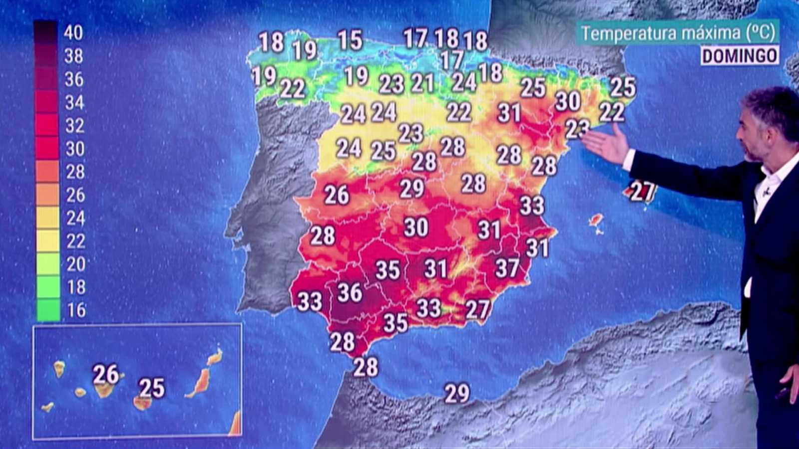 Lluvias localmente persistentes en zonas del oeste y norte de Galicia. Vientos fuertes con rachas muy fuertes en Canarias - ver ahora
