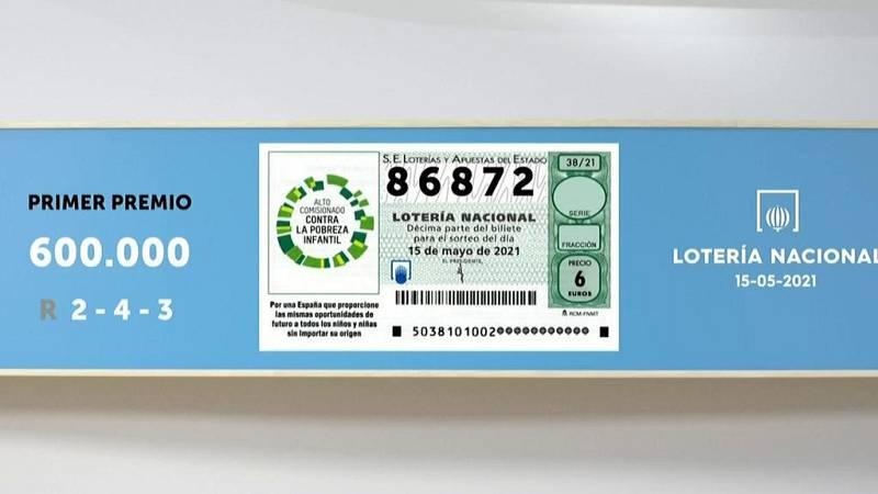 Sorteo de la Lotería Nacional del 15/05/2021 - Ver ahora