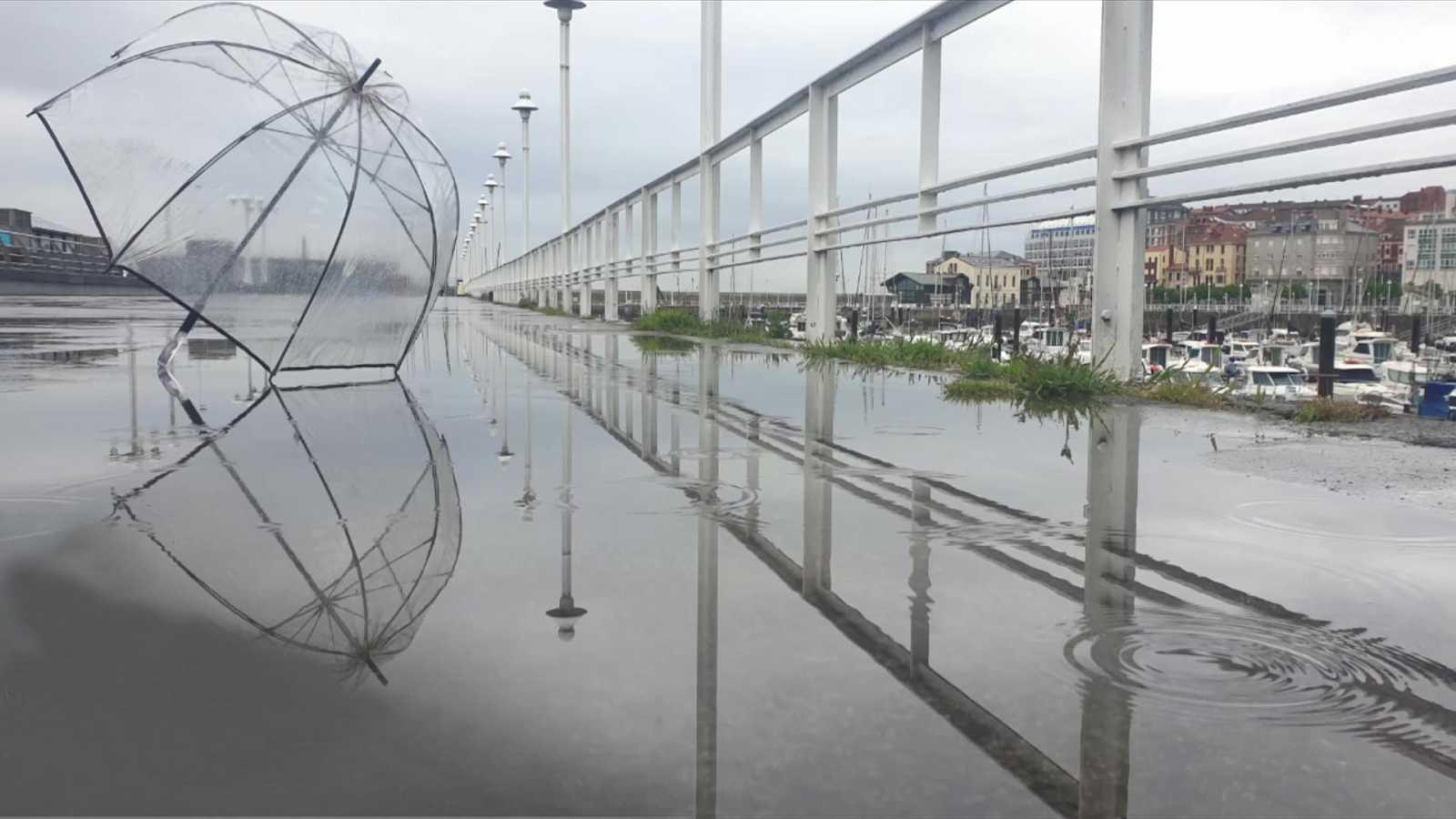 Lluvias localmente persistentes en zonas del oeste y norte de Galicia - ver ahora