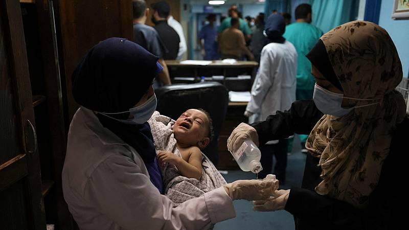 Un bebé de seis meses, único superviviente de un bombardeo israelí