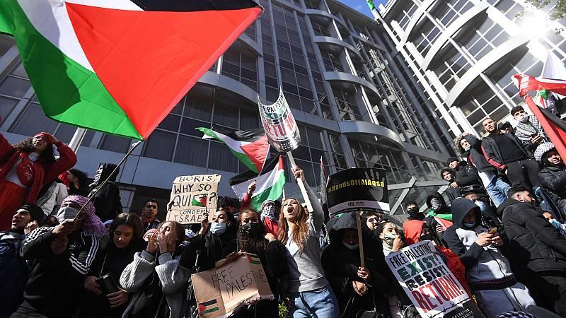 Miles de manifestantes piden el fin de la violencia en Gaza en varias ciudades europeas
