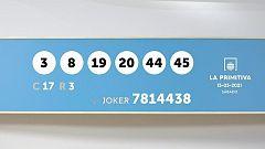 Sorteo de la Lotería Primitiva y Joker del 15/05/2021