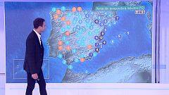Temperaturas significativamente altas en el tercio sur peninsular y el área mediterránea. Intervalos de viento fuerte en Canarias