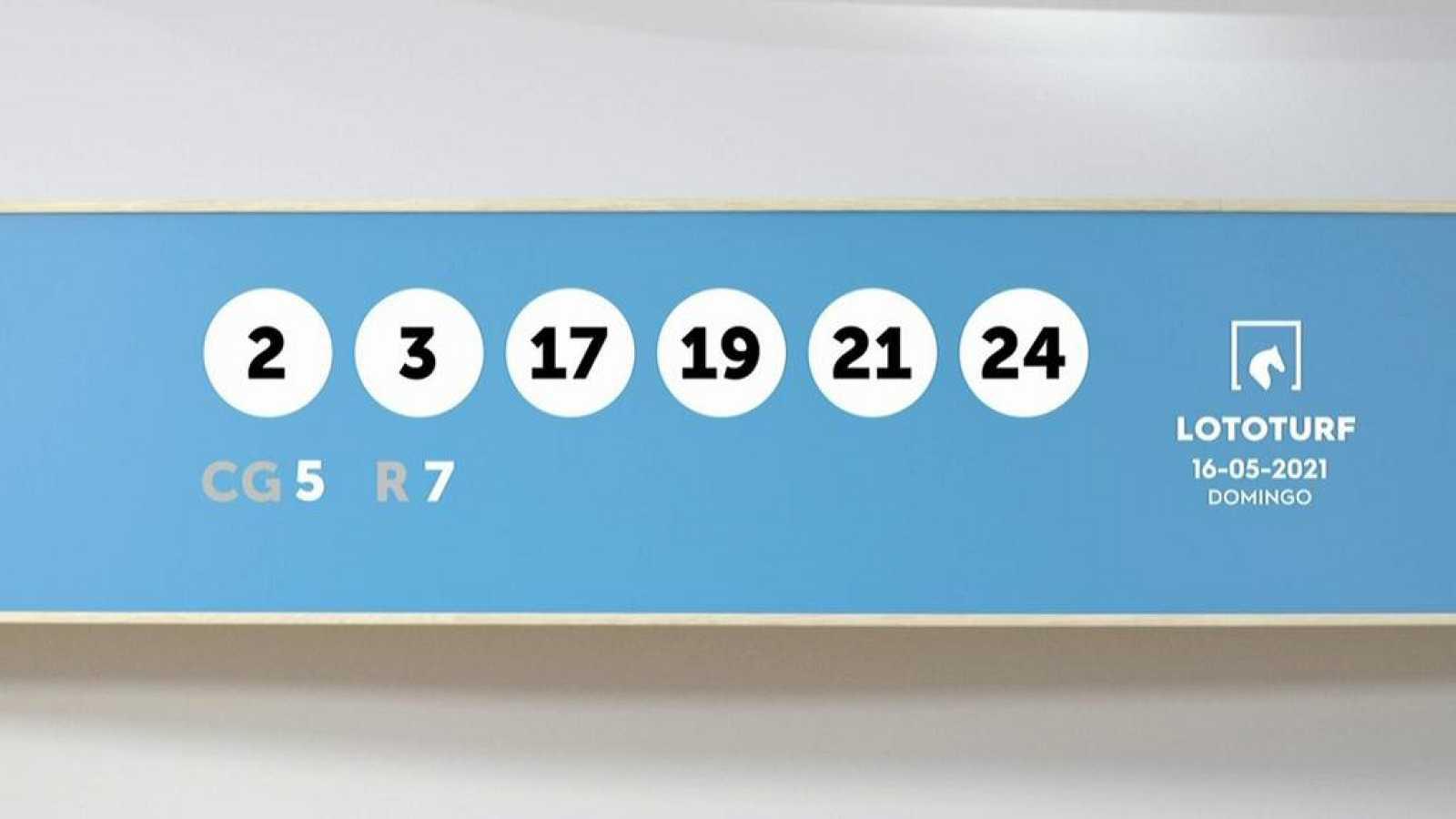 Sorteo de la Lotería Lototurf del 16/05/2021 - Ver ahora
