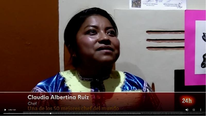 Primera indígena mexicana elegida entre los 50 chef más prometedores del mundo