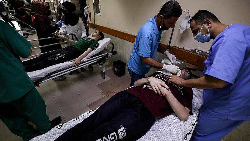 Los bombardeos israelíes sobre Gaza llevan al límite a los hospitales