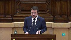 Aragonès invoca la via del referèndum pactat per culminar la independència