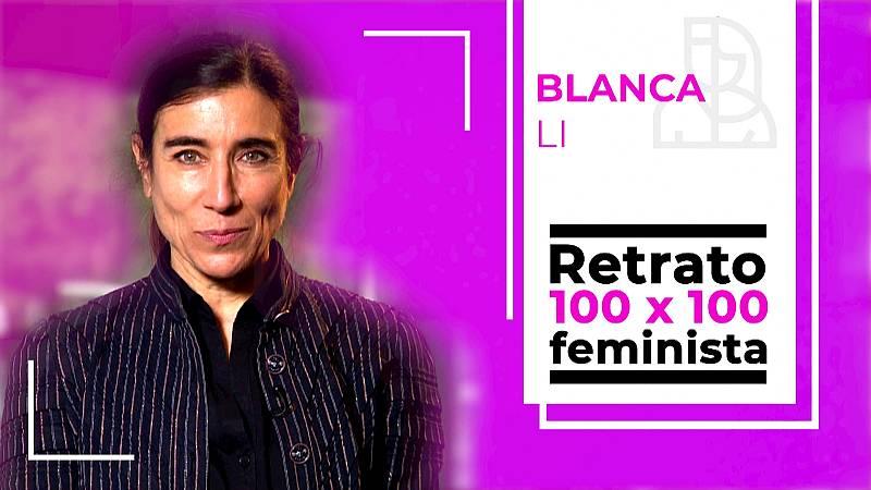 Objetivo Igualdad - Retrato 100x100 feminista: Blanca Li