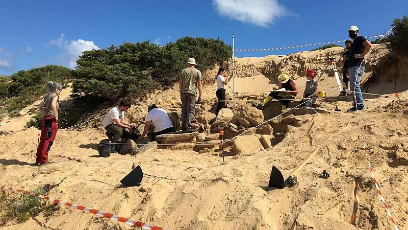 Encuentran unas termas romanas en el Cabo Trafalgar