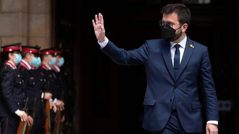 Aragonès es investido presidente de la Generalitat con la mayoría independentista