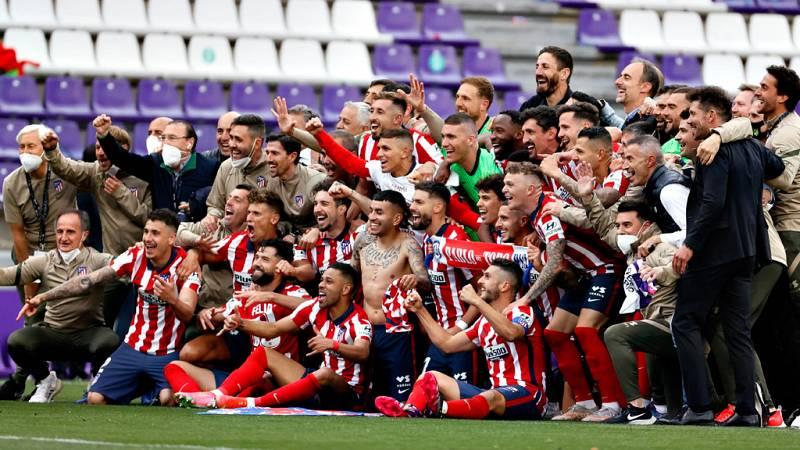 El Atlético de Madrid vence su Liga número 11 en Valladolid