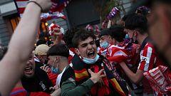 Muere un aficionado del Atlético en las celebraciones por el título de Liga en Madrid