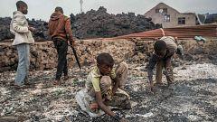 Los habitantes de Goma regresan a la ciudad tras la erupción del volcán Nyiragongo