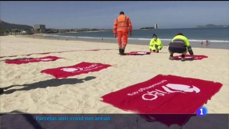 Praias parceladas para garantir a separación entre bañistas