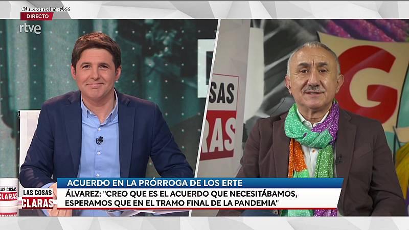 """Pepe Álvarez (UGT), sobre la prórroga de los ERTE: """"Garantiza a los trabajadores sus plenos derechos, es el acuerdo que necesitábamos"""""""