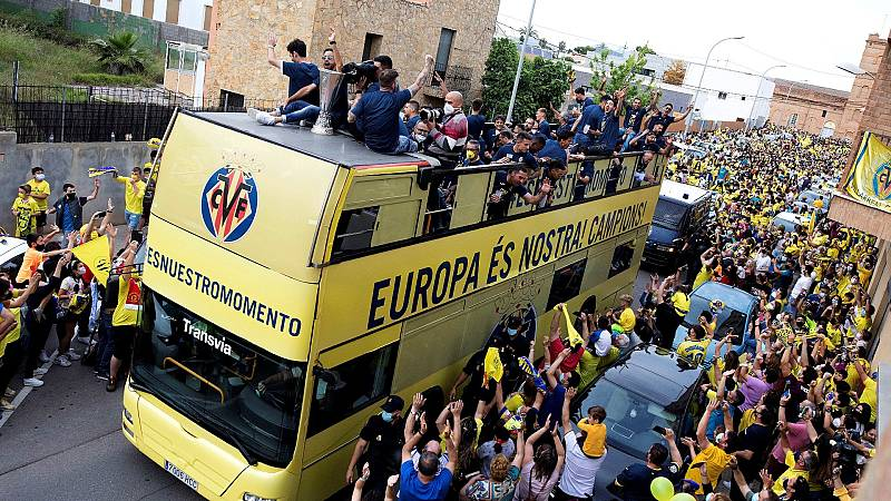 Villarreal se tiñe de amarillo para celebrar la Europa League
