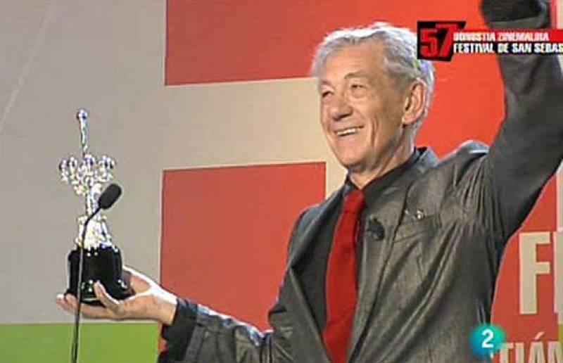 Ian McKellen, Premio Donostia en el Festival de Cine de San Sebastián