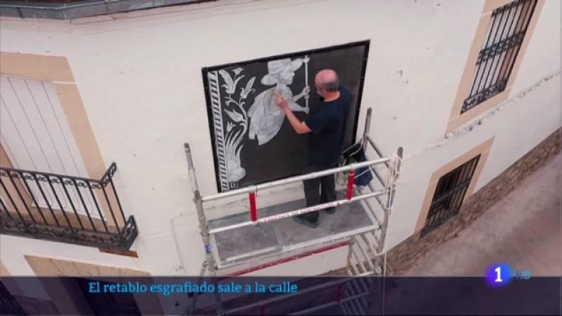 El retablo esgrafiado de la Mata sale a la calle - 28/05/2021