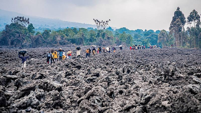 El drama de los desplazados en Congo: evacuadas miles de personas por la erupción del volcán Nyiragongo