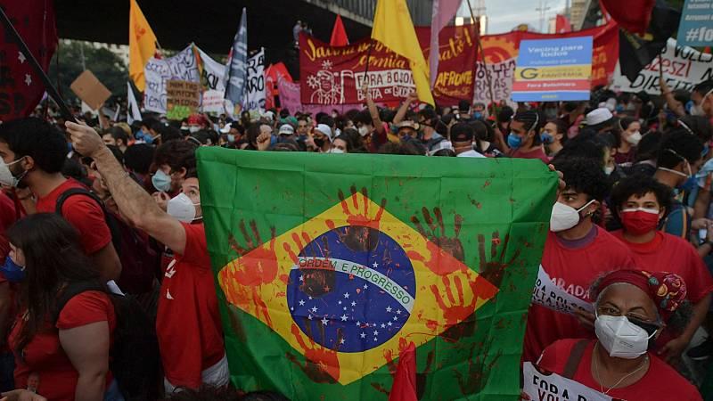 Protestas multitudinarias en Brasil contra la política sanitaria de Bolsonaro