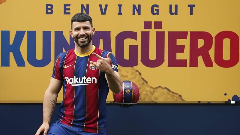 Agüero, nuevo jugador del Barça, confía en la continuidad de Messi