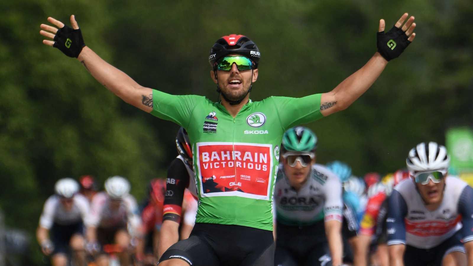 Así fue la victoria de Colbrelli en la etapa 3 de la Dauphiné
