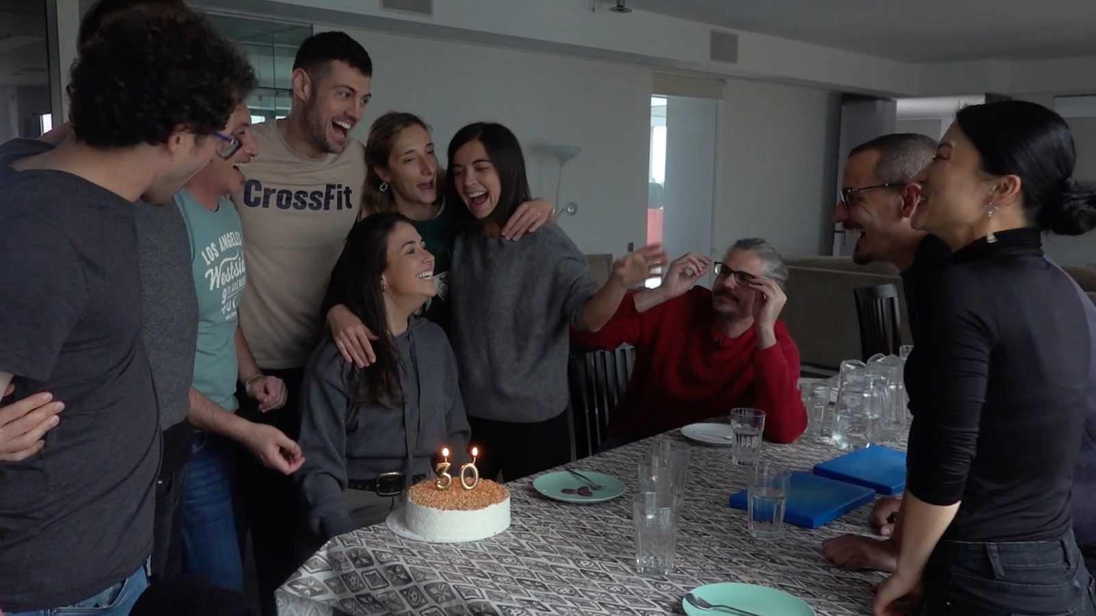 Así celebraron los aspirantes el cumpleaños de Ofelia