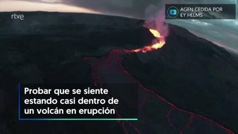 Un youtuber realiza un aparatoso vuelo de un dron sobre un volcán en erupción