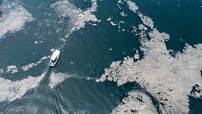 Las costas de Turquía se inundan de 'mocos marinos' por el cambio climático