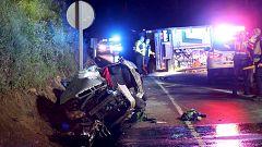 Tráxico accidente en Caldas de Reis, con tres mozos falecidos