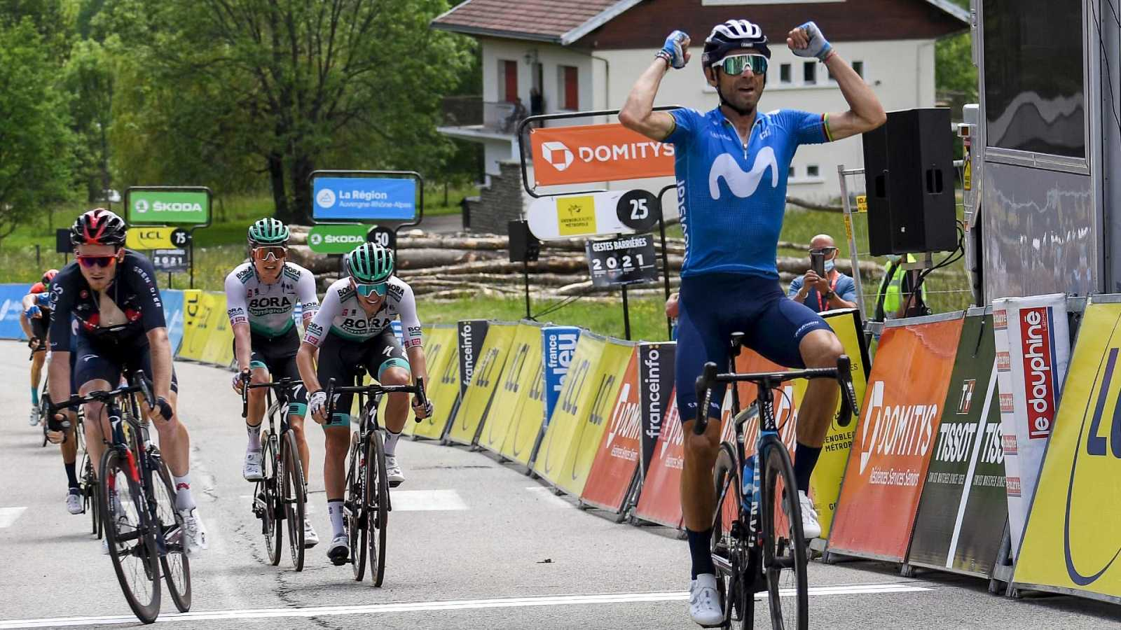 Valverde hace bueno el trabajo del Movistar y se lleva la sexta etapa en el Dauphiné