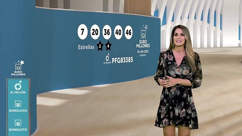 Sorteo de la Bonoloto y Euromillones del 04/06/2021 - ver ahora