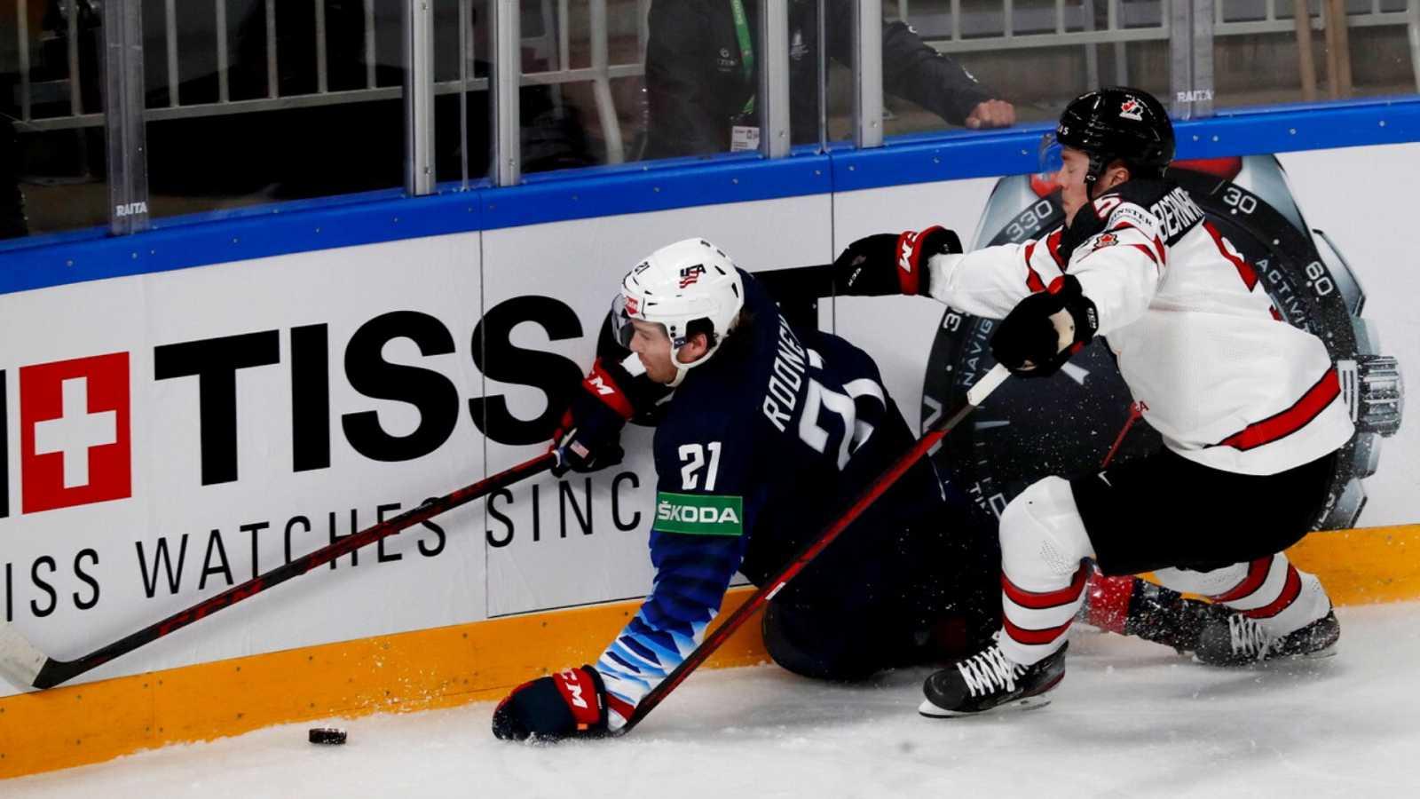 Hockey sobre hielo - Campeonato del mundo masculino. 1ª Semifinal: Estados Unidos - Canadá - ver ahora