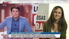 """Ione Belarra valora la carta de Junqueras: """"Nos pone en el camino de una solución dialogada a la cuestión catalana"""""""