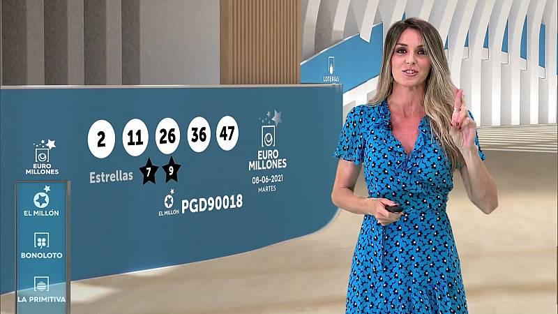 Sorteo de la Bonoloto y Euromillones del 08/06/2021 - ver ahora