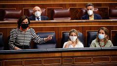 """PP y Vox acusan al Gobierno de """"pisotear"""" la justicia con los indultos y Calvo les pide dejar de """"enfrentar"""" a los españoles"""
