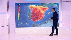 Posibilidad de tormentas localmente fuertes en el sistema Ibérico oriental, Pirineos y mitad norte de Cataluña. Temperaturas altas en el valle del Guadalquivir y Canarias